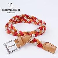 TIBERIO FERRETTI ティベリオフェレッティー 麻メッシュベルト 9379 (ベージュ)