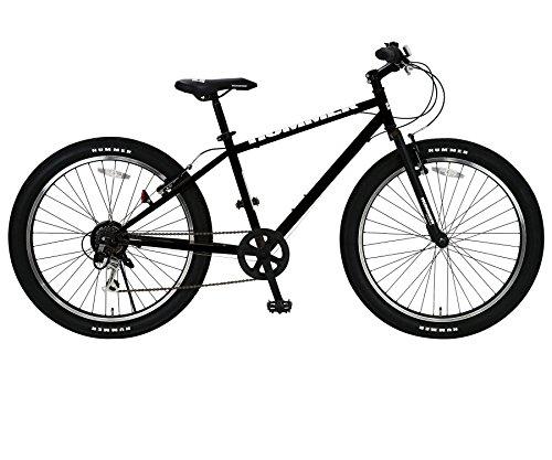 HUMMER(ハマー) マウンテンバイク 26インチ FAT BIKE TANK3.0 ATB 26×3.0インチ極太タイヤ シマノ製6段変速機搭載 前後Vブレーキシステム 13118-0199