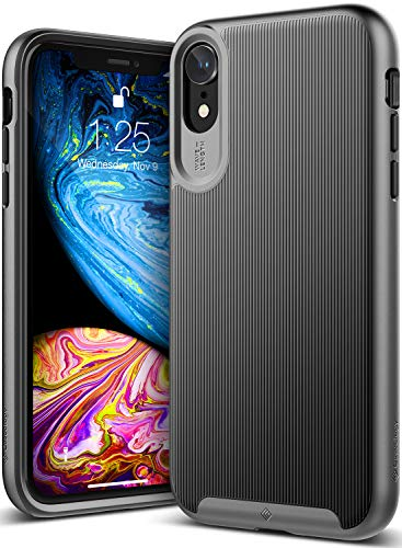 Caseology iPhone XR用ケース Wavelength Series TPU/PC ミリタリーグレード通過(米国防総省ドロップテスト) CO-A18M-GRL (ブラック)