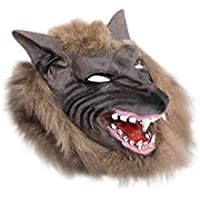 ウルフヘッドマスク ハロウィン用 コスプレ コスチュームパーティー free ブラウン OVERMAL Toy b269