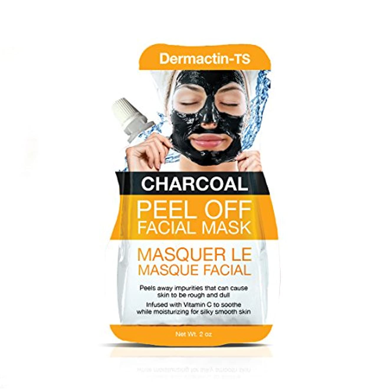 タップ誤解を招くボーダーDermactin-TS フェイシャルマスクを剥がすチャコール50 g (並行輸入品)
