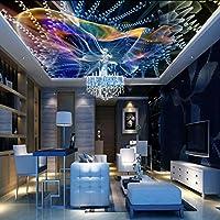 Wxmca ホーム改善3Dの壁紙天井壁壁紙背景絵画壁画の壁紙抽象鮮やか-280X200Cm