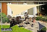 クッカバラ日除けシェードセイル 砂色 3.6m正三角形 紫外線98%カット 防水タイプ OL0104ST