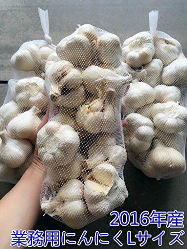 2016年新物青森県産 にんにく 業務用 1kg ホワイト六片 Lサイズ中心