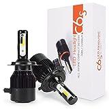 車用 H4 Hi/Lo切り替え LED ヘッドライト30W x2 3000ルーメン DC 12V 高輝度 COB チップ搭載 LEDバルブ ホワイト 限定新発売12ヶ月保証 C6S-H4