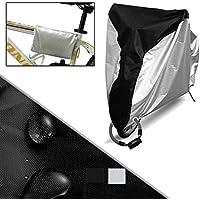 DINGXIN 自転車カバー 撥水加工 厚手 防水 防塵 雪対策 盗難防止 UVカット 風飛び防止 収納袋付き 20インチまで対応 2016改良版