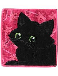 日本未発売 フェイラー ハンカチ ハンドタオル タオルハンカチ 25cm ブラックキャット 黒猫 [並行輸入品]