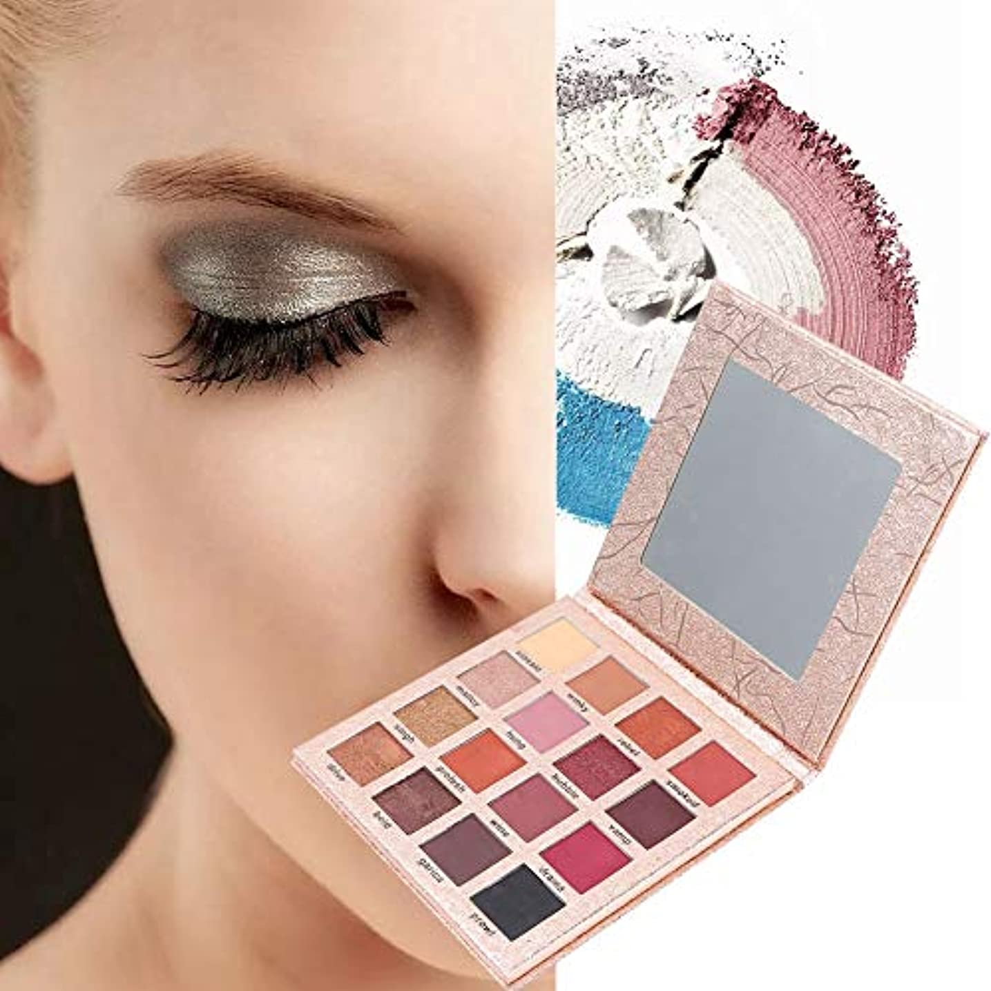 スリット摂氏多様なアイシャドウパレット 16色 アイシャドウパレット 化粧マット グロス アイシャドウパウダー 化粧品ツール