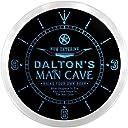 LEDネオンクロック 壁掛け時計 ncpb0754-b DALTON 039 S Man Cave Cowboys Beer Bar Pub LED Neon Sign Wall Clock