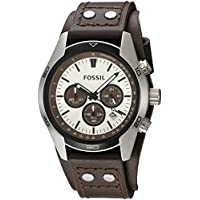 Fossil Men's Sport Cuff Analog Analog-quartz Beige Watch, (CH2565)