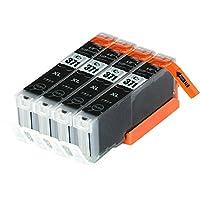 CANON キャノン BCI-371XLBK ブラック 4本セット 互換インクカートリッジ 汎用・インク 大容量 ICチップ付(残量表示機能付)