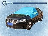 車用 車体ハーフカバー フロントガラス フロントガラスカバー 凍結防止シート 日よけ 防雨 防塵 凍結防止 積雪対策 冬 風飛び防止 SUV対応 収納袋付 SUV対応 XL 青