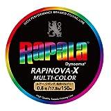 ラピノヴァX マルチカラー 0.8号 17.8lb 150m