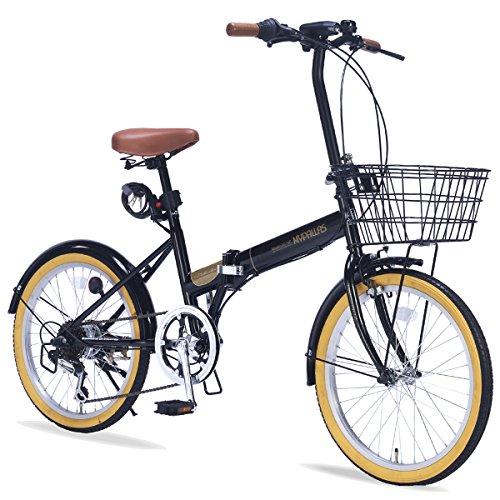 My Pallas(マイパラス) 折りたたみ自転車 M-252 20インチ 6段変速 オールインワン ブラック