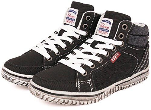 (エドウィン) EDWIN 子供靴 軽量 ハイカットスニーカー キッズ 男の子 ジュニア カジュアル...