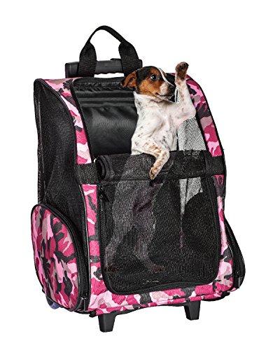 ペットキャリーバッグ小型猫/犬用 リュックカート キャリーカート 手提げ 車載 4way キャスター&ハンドル付き