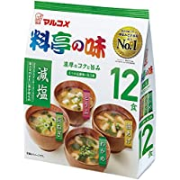 マルコメ お徳用 料亭の味みそ汁減塩 12食×12個