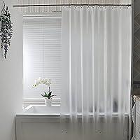 AooHome 防カビ シャワーカーテン 透明 180 x 180cm 防水 バスカーテン ユニットバス 浴室 間仕切り 北欧 クリア 清潔 フック付き 取り付け簡単