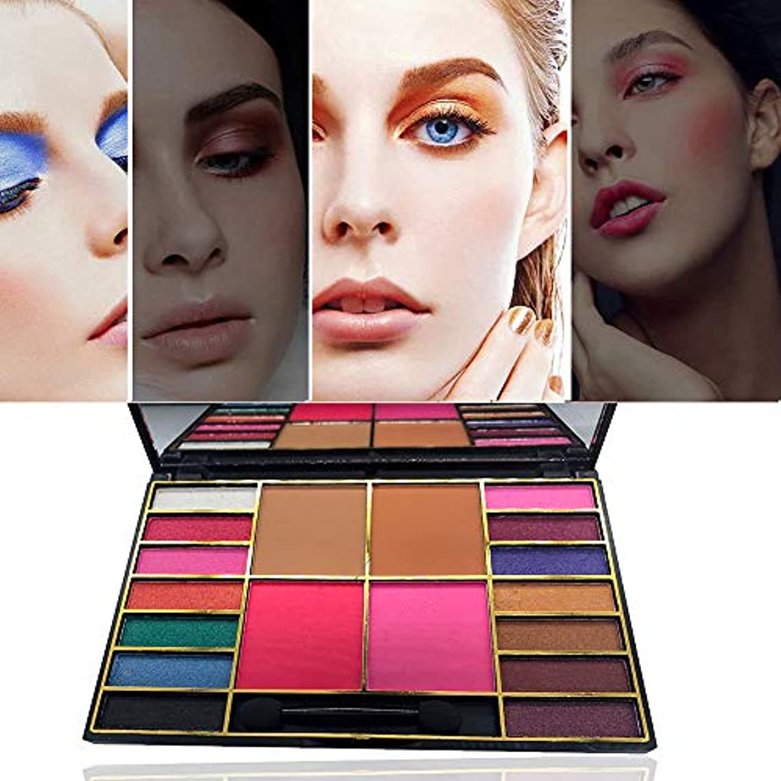 エンドテーブルフェデレーションアイデアAkane アイシャドウパレット GLAZZI 人気 ファッション 真珠光沢 つや消し 綺麗 欧米風 ゴージャス 日本人肌に合う マット 持ち便利 Eye Shadow (18色) GZ8040036B