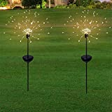 Honche Solar Christmas Firework Garden Lights Outdoor Decorative Waterproof Warm Cross Lighting String (120L-10CM-WW-ROUND)