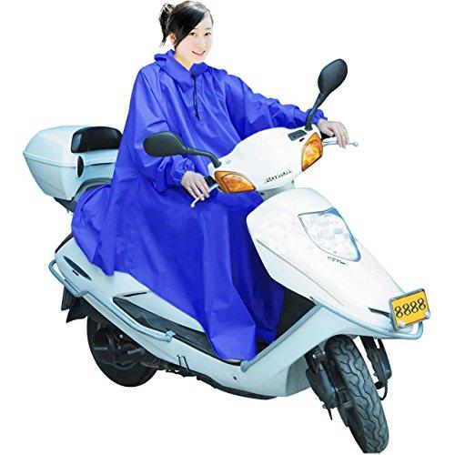 男女兼用 バイク 自転車 スクーター 用 レインコート ポンチョ 防水 フリーサイズ 雨具 雨合羽 ...