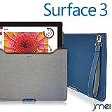 Surface 3 ケース JMEIオリジナルプロテクトレザーポーチケース VESTA Tablet グレー microsoft サーフェス 3ストラップ付き タブレット PCバッグ パソコンバッグ PCケース クラッチバッグ タブレットPC ドキュメントケース ブリーフケース 書類ケース A4