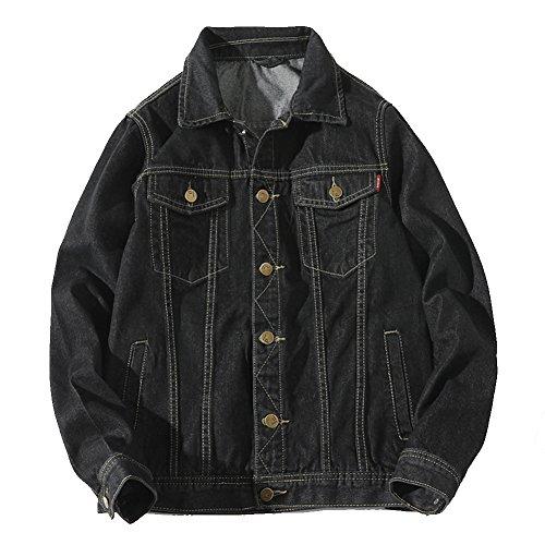 YOUTHUP デニムジャケット ジーンズ Gジャン メンズ 春秋 カジュアル 長袖 大きいサイズあり M-5XL スリム 綿 ダメージ加工 アウター 全3色