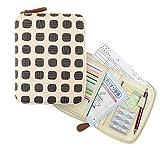 イナダ商事 Ah(エーエイチ) お薬手帳&母子手帳ケース/スクエアBK (30枚カード入れ付き)15×19.5cm IAC-MC-649