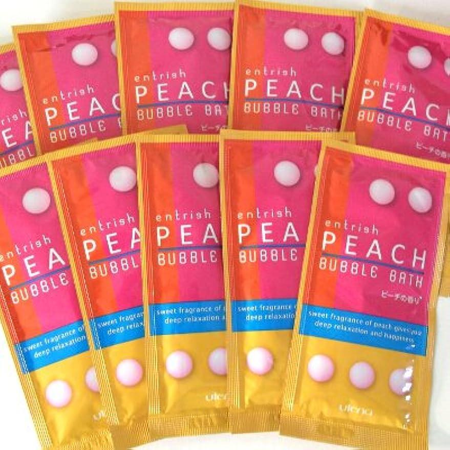 確認してください衝動十分にエントリッシュ フルーツバブルバス ピーチの香り 10包セット