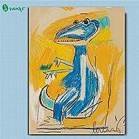 木枠貼り付け加工済み 海外限定 ジャン=ミシェル・バスキア Jean-Michel Basquiat 大型サイズあり キャンバス ポスター 美術品 絵画 (30×40cm)