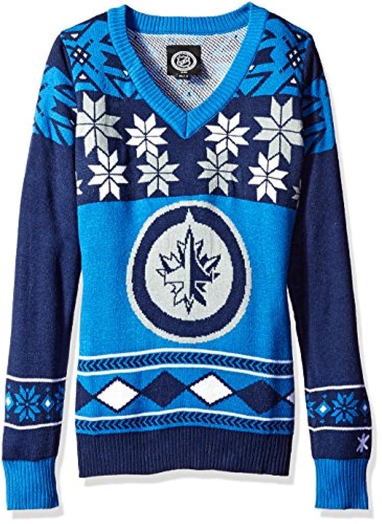 アクチュエータ深遠炭水化物NHLレディースVネックセーター