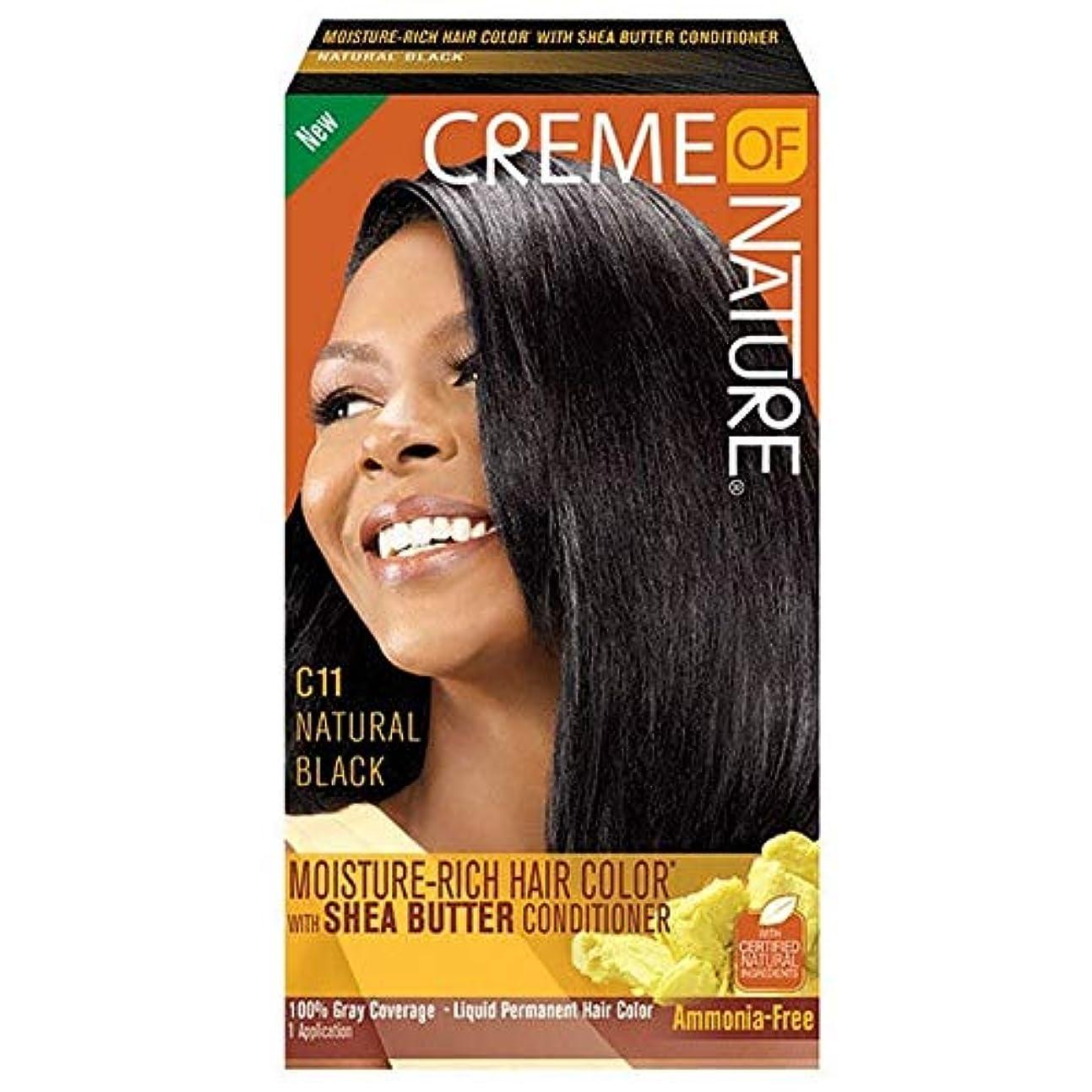倒錯国旗束ねる[Creme of Nature ] 自然液体ヘアカラー#10ジェットブラックのクリーム - Creme of Nature Liquid Hair Colour #10 Jet Black [並行輸入品]