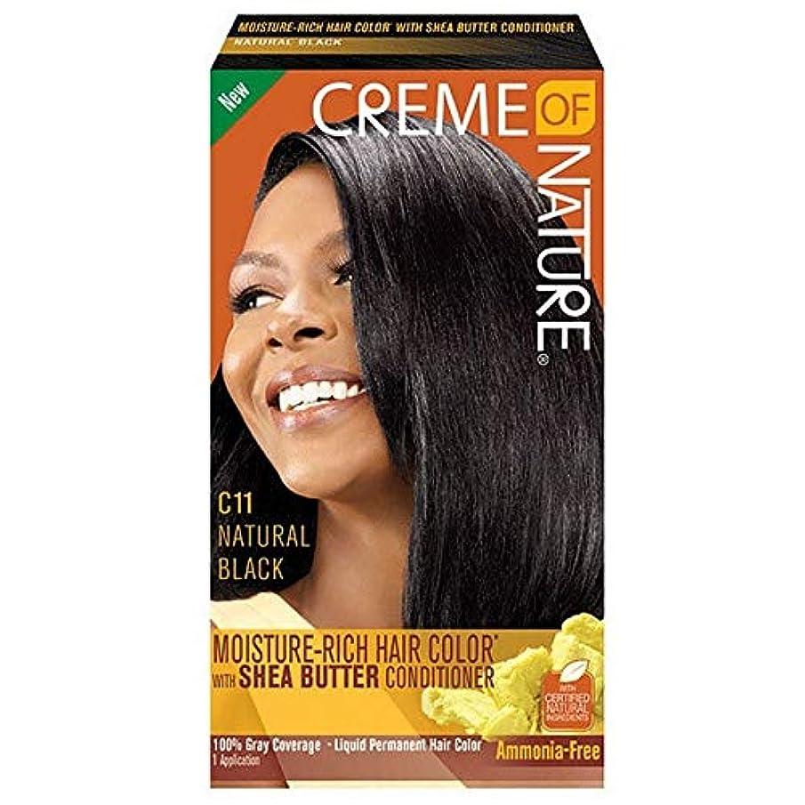 ぬるいポイント幸運[Creme of Nature ] 自然液体ヘアカラー#10ジェットブラックのクリーム - Creme of Nature Liquid Hair Colour #10 Jet Black [並行輸入品]