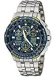 シチズン腕時計メンズ Citizen Men's JY0050-55L Blue Angels Skyhawk A-T Titanium Eco-Drive Watch [並行輸入品]