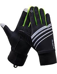 (eones)ランニンググローブ メンズ/レディース 手袋 スマホ対応 反射素材 アウトドア 自転車 通勤 通学
