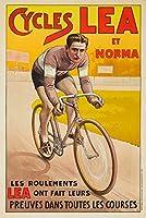 サイクルLea ET Normaヴィンテージポスター(アーティスト: Buisseret )ベルギーC。1910 12 x 18 Art Print LANT-62586-12x18