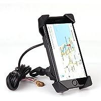 バイク用 スマートフォンホルダー USB電源付け 急速充電防水仕様 多機種対応