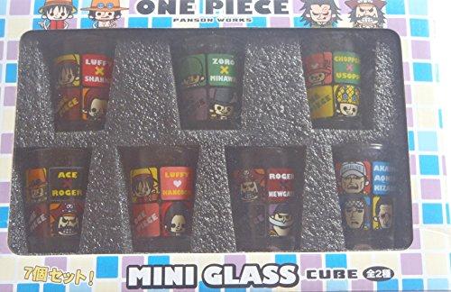 ワンピース×PansonWorks《キューブ》ミニグラス(ショットグラス)7個セット(ガラス製)【絆×好敵手】