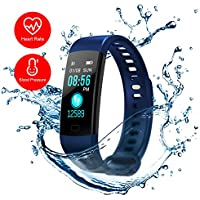 Pokich Fitness Tracker Heart Rate Monitor Watch Blood Presure Pedomete Smart Wristband Watch