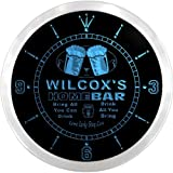 LEDネオンクロック 壁掛け時計 ncp1501-b WILCOX'S Home Bar Beer Pub LED Neon Sign Wall Clock