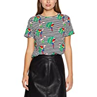French Connection Women's Parrot Stripe Printed Tee