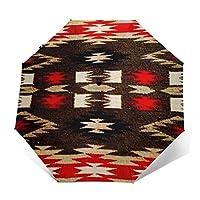 アメリカンのナバホー人の種族 折りたたみ傘 ワンタッチ自動開閉 耐強風 超撥水 8本骨 大型96cm 晴雨兼用 男女兼用