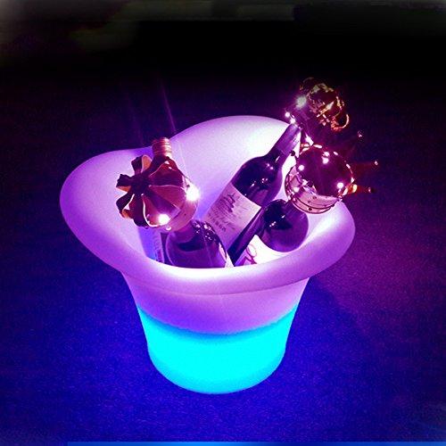電光ホーム 光る ワインクーラー ラウンド型 充電式 SP7