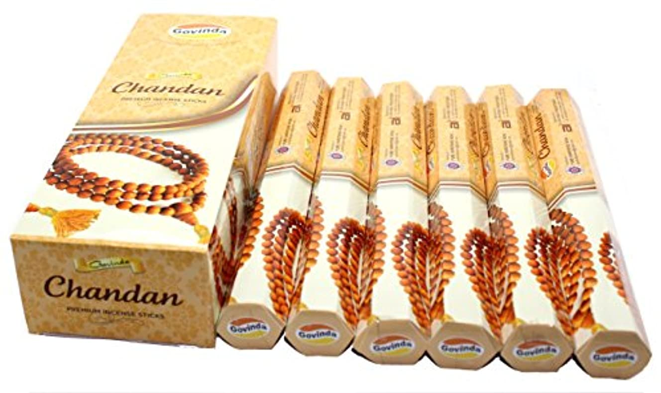 くつろぎ満員肥沃なGovinda ® Incense – Chandan – 120 Incense Sticks、プレミアムIncense、Masalaコーティング