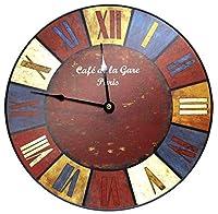 壁掛け時計、ローマ数字付きヴィンテージスタイル、壁掛け時計、レンズなし、サイズ30X30X0.8 Cm