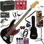 Squier エレキベース 初心者 入門 王道のジャズベース VOX Pathfinder BASS10とVOXのマルチエフェクターが入ってる完璧21点セット Classic Vibe '60s Jazz Bass/BLK(ブラック)