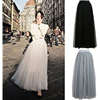 Besttradestore Vintage 40's 50's Punk Rockabilly Princess Women Multi Layer Tulle Maxi Long Tutu Skirt A-line Multilayer Dress