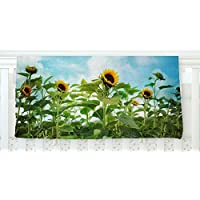 KESS InHouse Sylvia Cook Sunflower Field Blue Green Fleece Baby Blanket 40 x 30 [並行輸入品]