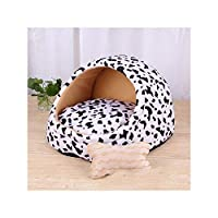 冬の暖かい子犬犬ペットベッドハウスリムーバブル犬猫ベッド用小型犬猫製品ペットホーム、牛の家、2.5キログラム以内のペット