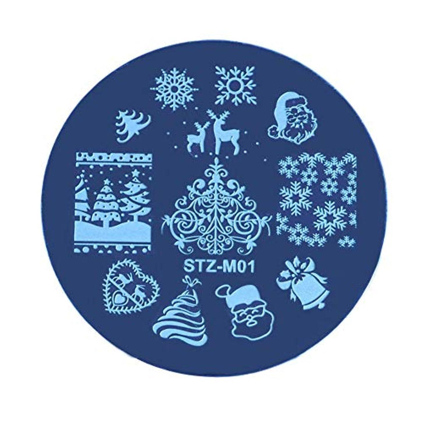 退屈なイル記念碑Lucoss クリスマスネイルステッカー、クリスマススチールプレートステッカー、DIYネイルアートオーナメント、ネイルアートアクセサリー